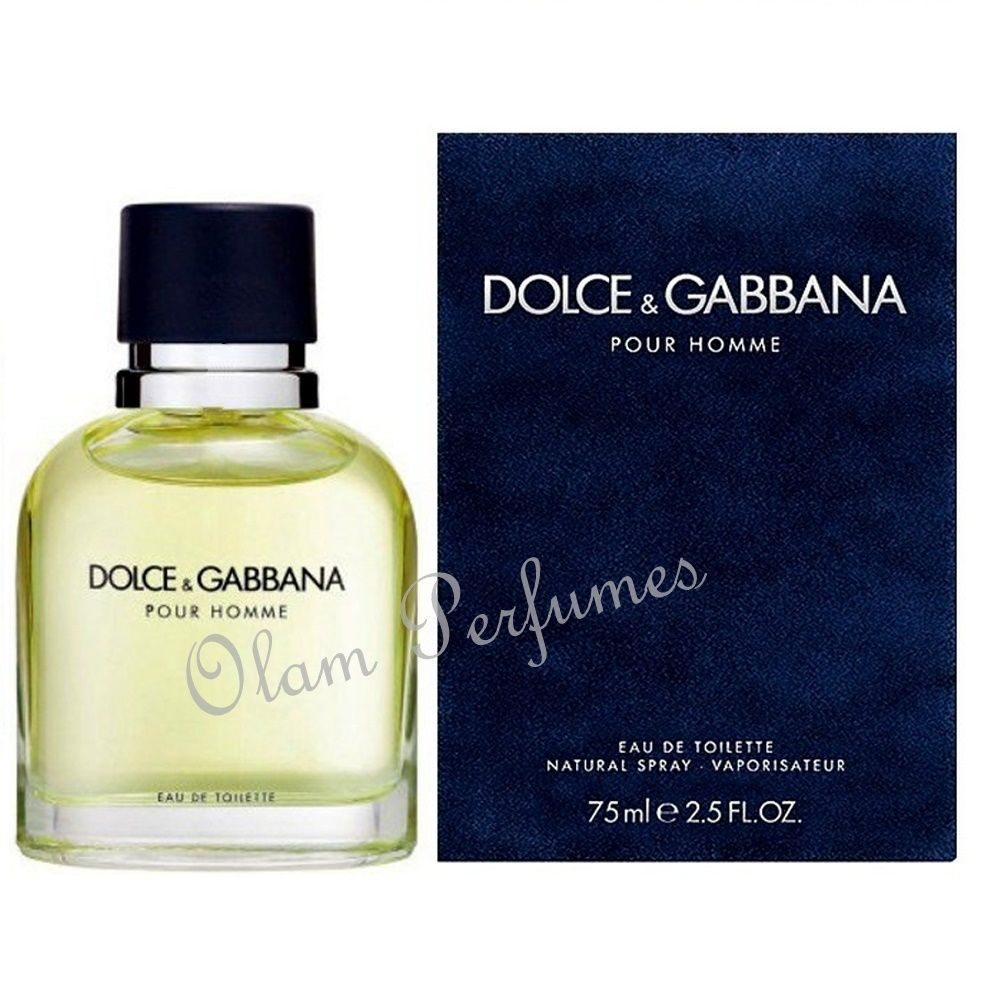05ed387dfbf0 Dolce & Gabbana Pour Homme Men Eau De Toilette Spray 2.5oz 75ml